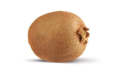 Isolated whole kiwi fruit on a white background