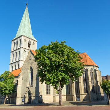 Die Evangelische Pauluskirche im Zentrum der Stadt Hamm, Nordrhein-Westfalen