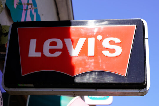 Levi's Store Logo sign of American clothing company levis shop