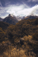Foto op Canvas Nepal View from key summit, Fiordland National park, south island, New Zealand.
