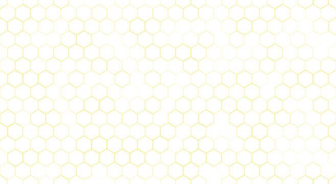 Background of yellow honeycombs. Honeycombs. Vector illustration. Yellow. Background. Honey.