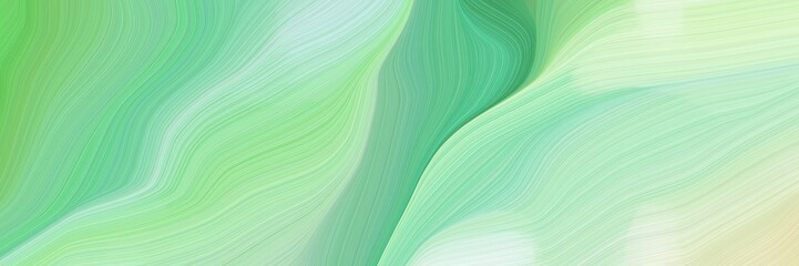 beautiful and smooth landscape orientation graphic with waves. contemporary waves illustration with pale green, ash gray and medium sea green color