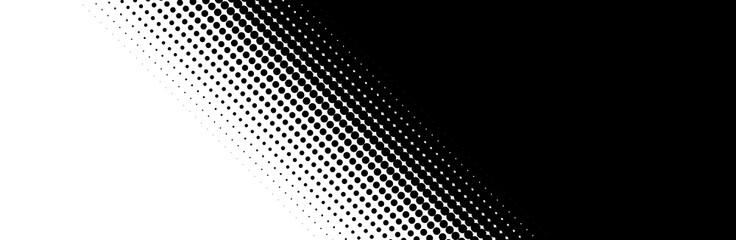 Farbverlauf aus diagonalen Punkten von weiß zu schwarz Wall mural
