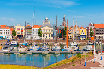 Marina in Vlissingen Zeeland Netherlands