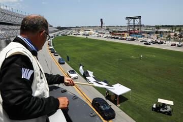 Students of Matanzas High School hold their graduation at Daytona International Speedway in Daytona Beach