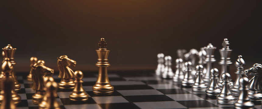 King chess that came out of the line Concept of business Strategic plan and teamwork management.