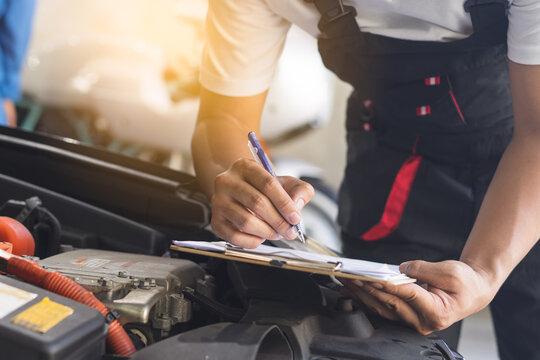 Auto check car service Mechanic checklist engine maintenance repair