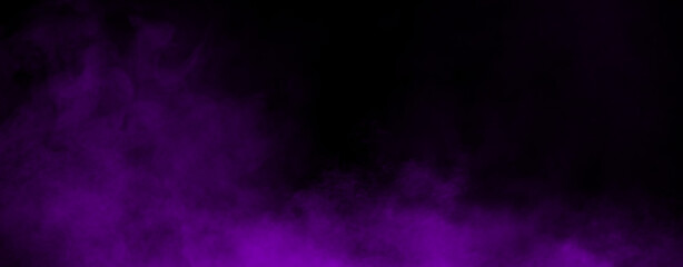 Panoramic fog mist texture overlays. Abstract purple smoke isolated background for effect, text or copyspace . Stock illustration.