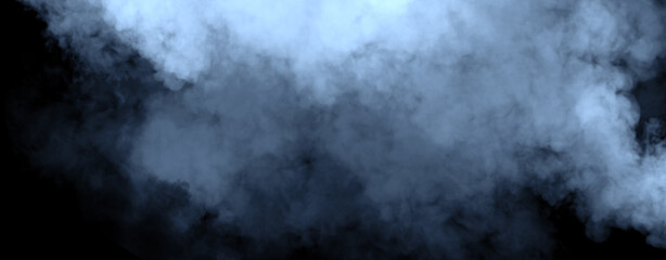 Panoramic fog mist texture overlays. Abstract smoke isolated background for effect, text or copyspace . Stock illustration.