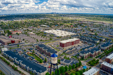 Aerial View of the Denver Suburb of Arvada