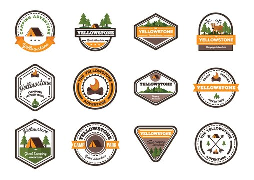 Set of Yellowstone labels