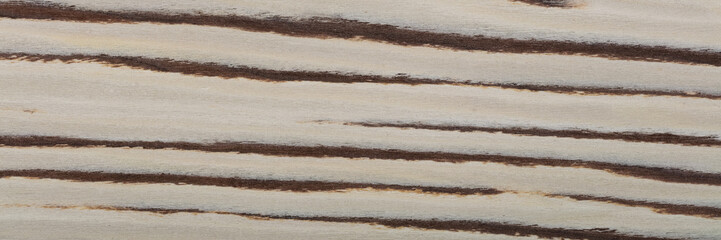 Beautiful light veneer background for your classic design view. Natural wood texture, pattern of a long veneer sheet.