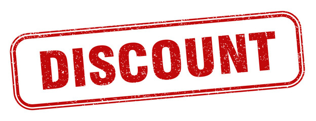 discount stamp. discount square grunge sign. label