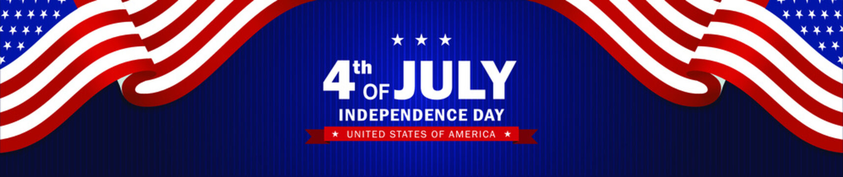 4th of July Independence day background. Perfect for invitations or announcements.