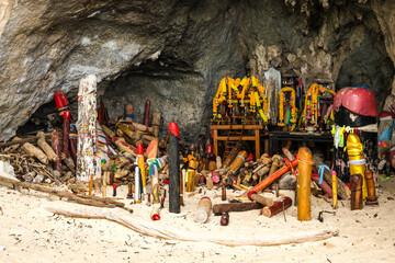 Phra Nang Princess Cave in Railay Beach Krabi