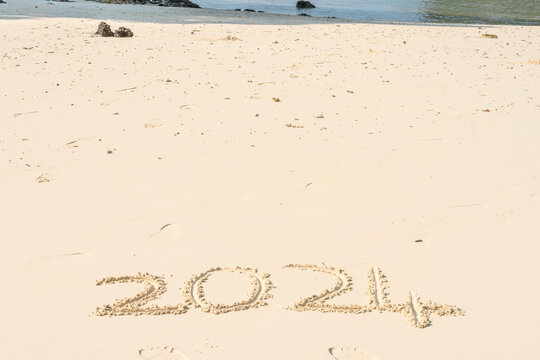 The year 2024 in the sand