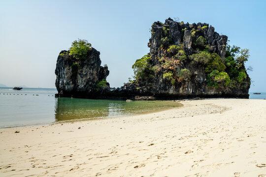 The beach at Hong Island off Krabi