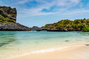 Beach on one of thr 42 islands that make up Ang Thong National Marine Park