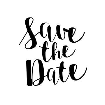 Save The Date - Hand Written Script Font - Modern Transparent Invitation Design