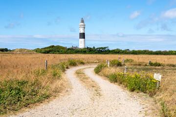 Lighthouse Kampen on the island Sylt, Schleswig-Holstein, Germany