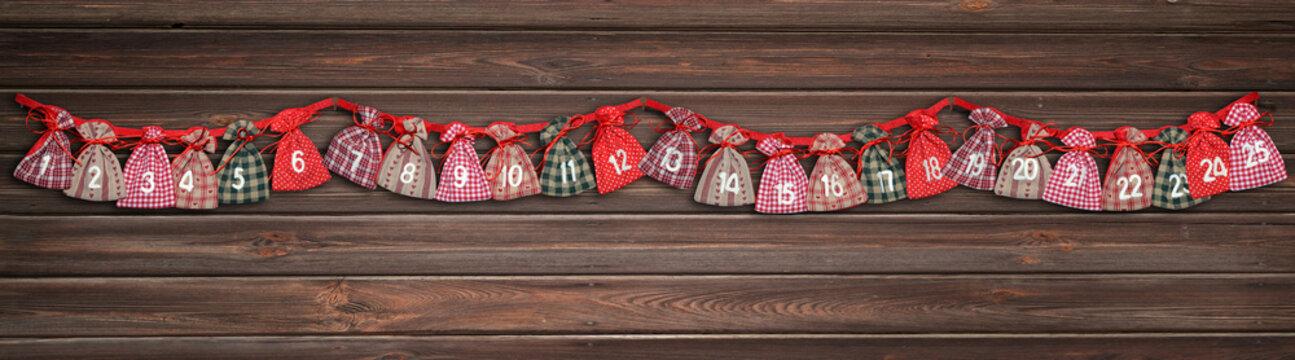 advent calendar bag chimney couloir cupboard shelf