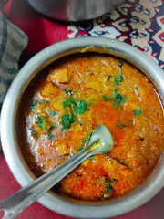 Indian homemade chicken curry