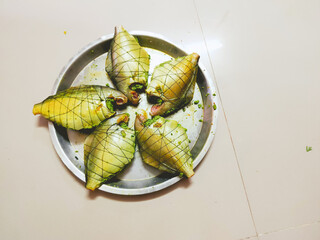 grilled pomfret fish in a steel plate