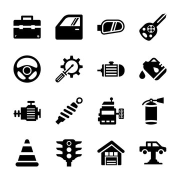 Auto Repair Filled Icons