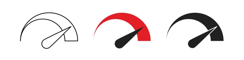 Speedometr logo icon set. Speed vector isolated concept illustration in flat