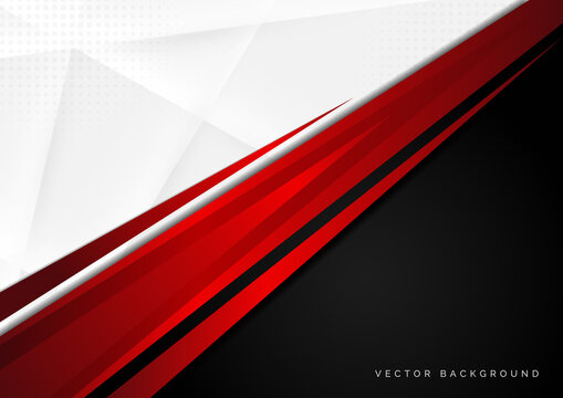 Template corporate concept red black grey and white contrast background.
