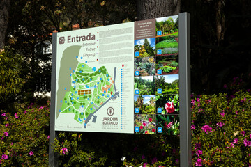 Detail of Madeira Botanical Garden in Fuchal, Portugal. Garden opened to the public in 1960 and have more than 345.000 visitors per year.