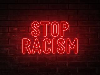 stop neon word photo