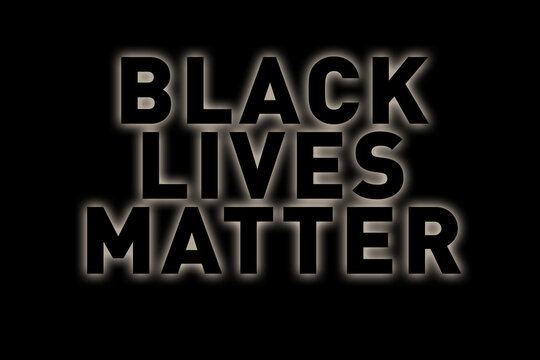 I Can't Breathe. Stop Killing Black People. Black Lives Matter concept. Protest Banner about Human Right of Black People in U.S. America. Violent protests. Icon Poster and Symbol. George Floyd Case.