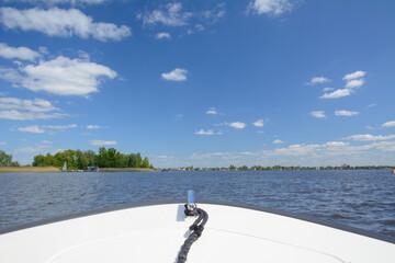 Sailing on Loosdrecht lake, Netherlands