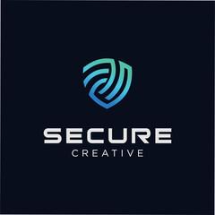 Secure Tech Logo Template. Shield Guard Tech Logo Icon Design Vector Stock. Security Tech Logo Inspiration. Protection Tech Logo Industrial