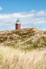 Wall Mural - Lighthouse Quermarkenfeuer Rotes Kliff on the island of Sylt