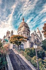 Fototapete - Sacre Coeur basilica in Montmartre, Paris