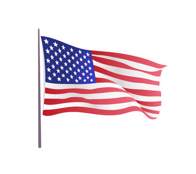 USA flag. Waving flag of the United States. illustration of wavy American Flag for Independence Day.