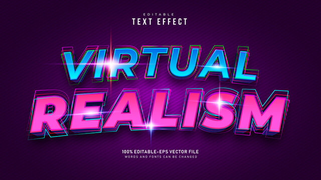 Virtual Reality Text Effect