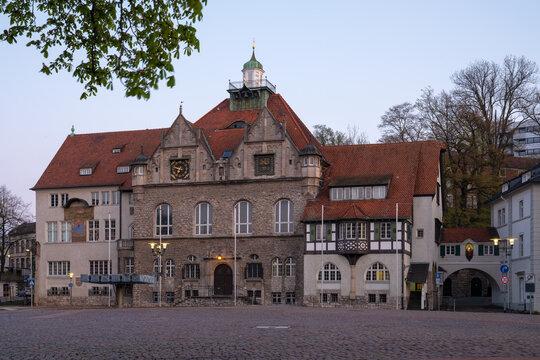 Townhall of Bergisch Gladbach at sunrise, Germany