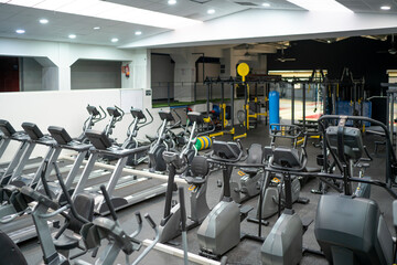 Gym room business without people