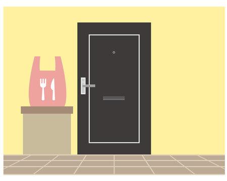 宅配 置き配 玄関 扉
