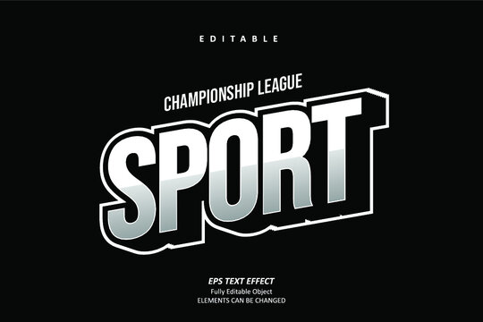 Champion Title Sport Text Effect Editable Premium Vector