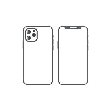 Iphone 11 Pro Icon. Vector Illustration