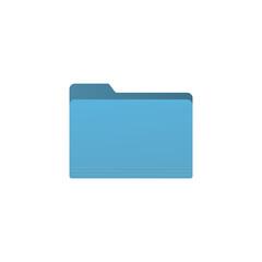 Blue folder icon isolated on white background. Document symbol modern, simple, vector, icon for website design, mobile app, ui. Vector Illustration - fototapety na wymiar