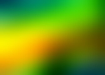 Green yellow gradient blurred pattern. Vivid colors formless abstract background. Wall mural