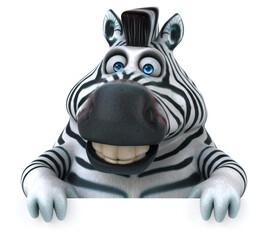 Fototapeten Zebra Fun zebra - 3D Illustration