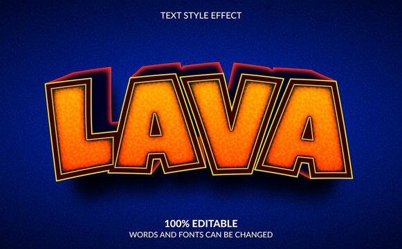 Editable Text Effect, 3D Lava Text Style