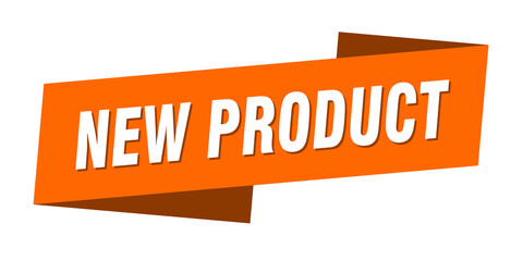 new product banner template. new product ribbon label sign