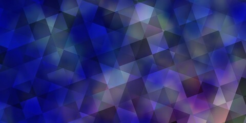 Light Pink, Blue vector texture with poly style with cubes.